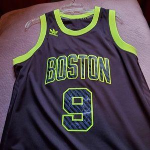 Boston Celtics, Rajon Rondo #9 Jersey Black & Neon